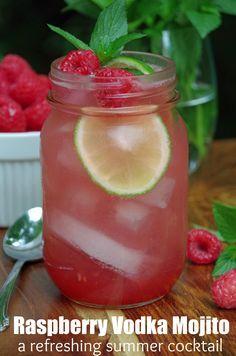 Raspberry Vodka Mojito Makes a Delicious Summer Cocktail Recipe #PinnacleCocktailClub #PinnacleVodka #ad