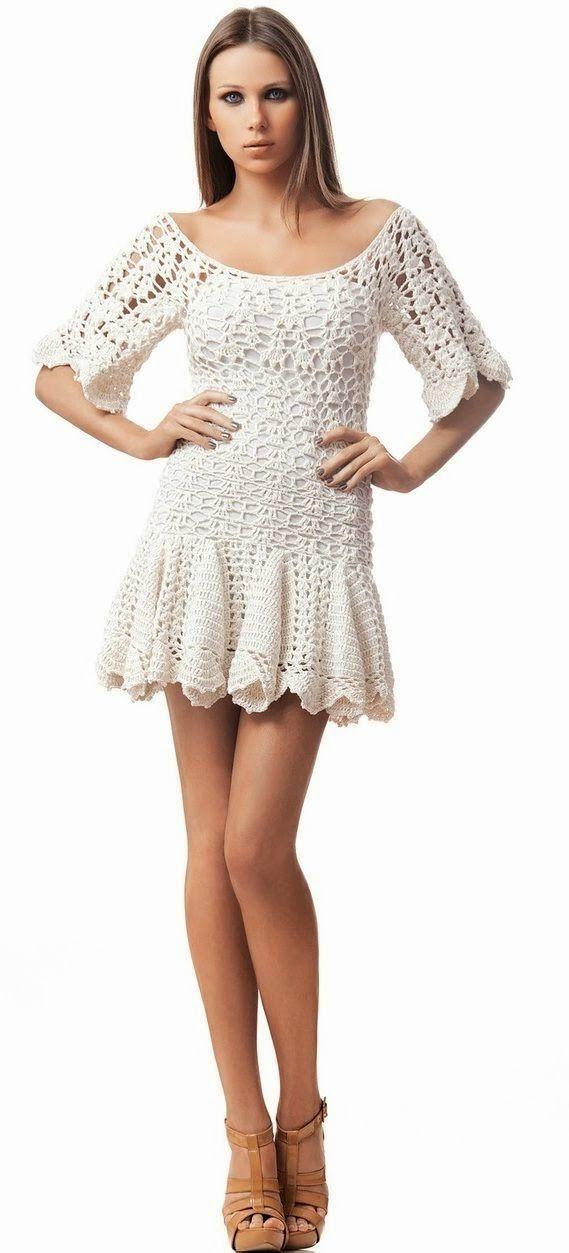 Ivelise Feito à Mão: Vestidos De Crochê