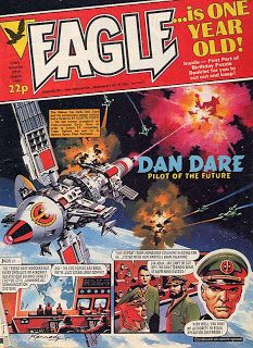 1983 Eagle cover featuring Dan Dare, art by Ian Kennedy