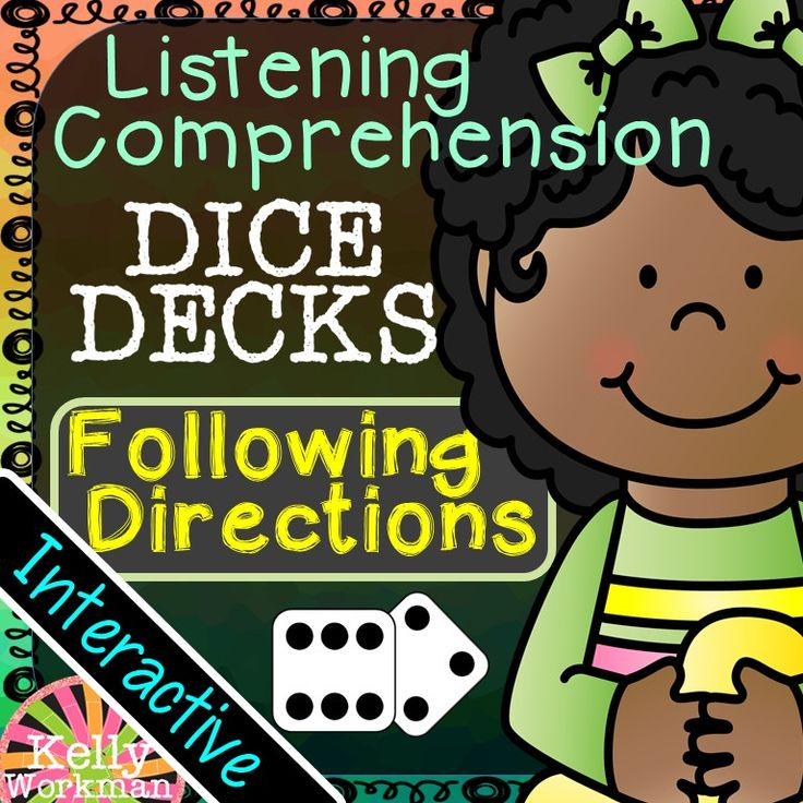 These interactive task cards allow you to work on listening comprehension skills by teaching students how to follow directions! This set targets 2 & 3-step and conditional directions. Get your wiggle-worms up and moving with this fun, engaging, and interactive DICE DECKS set! DICE DECKS are highly engaging! Have a student roll a die. If it lands on a 1 or 4, task A will be completed. If it lands on a 2 or 5, task B will be completed. If it lands on a 3 or 6, task C will be completed!