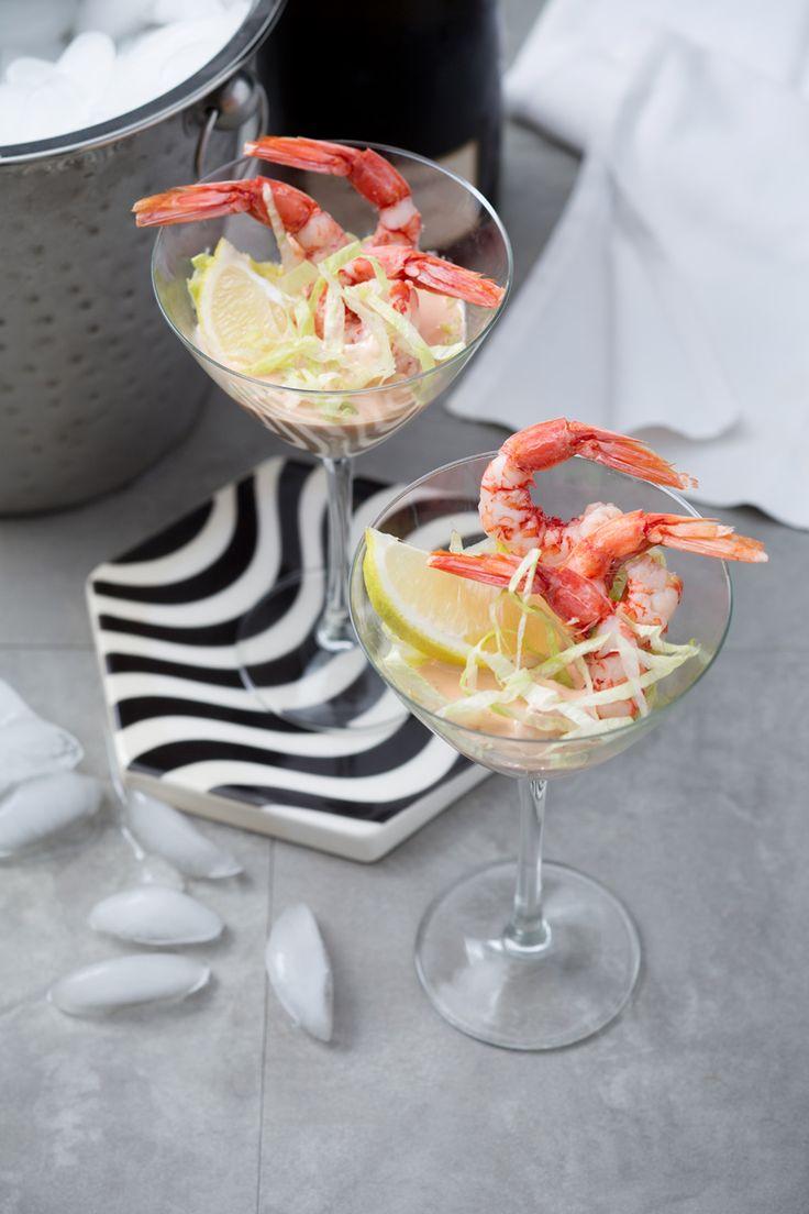 Cocktail di gamberetti: un vero classico della tavola delle Feste. Shirmp cocktail