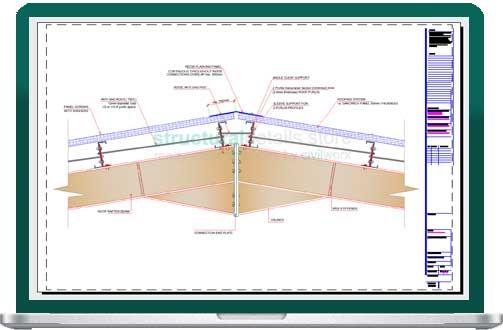 Steel Hangar Portal Frame Roof Eaves Beam Detail In 2020