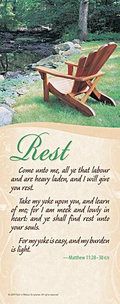 "Not hing is more comforting than resting in Him ~ Rest In Him ~♥   ~♥ ~ Matthew 11:  ""28 Come to Me, all you who labor and are heavy laden, and I will give you rest. 29 Take My yoke upon you and learn from Me, for I am gentle and lowly in heart, and you will find rest for your souls. 30 For My yoke is easy and My burden is light."" ~♥ ~...More at http://beliefpics.christianpost.com"