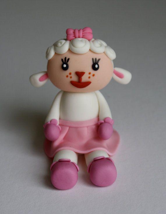 Fondant Doctor Inspired Lamb Cake Topper