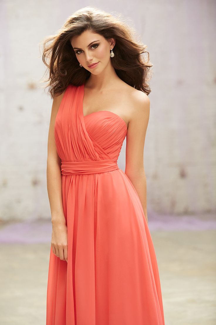 38 best images on pinterest convertible 2015 floor length haltersweetheartone shoulder salmon chiffon ruched sleeveless evening formal dresses by allure 1432 ombrellifo Choice Image