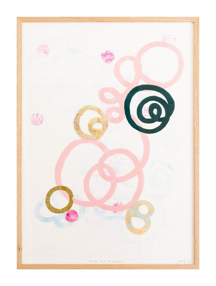 Swings and Roundabouts Print - Pink/Navy & Gold