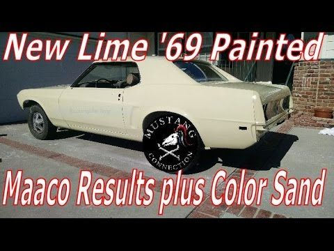 Maaco Paint results New Shine for the New Lime 1969 Mustang Restoration ...