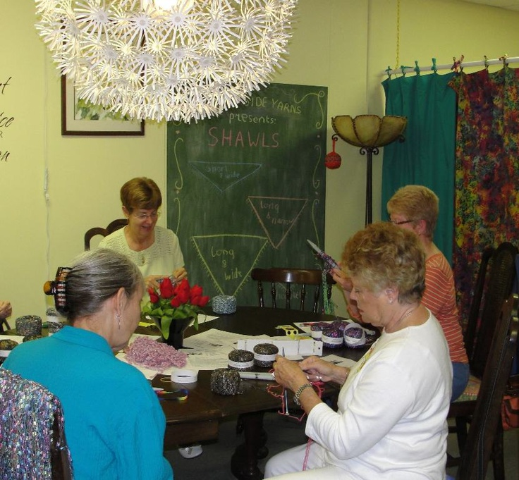 Shawl class went great - I know there will be some gorgeous finished projects soon!!