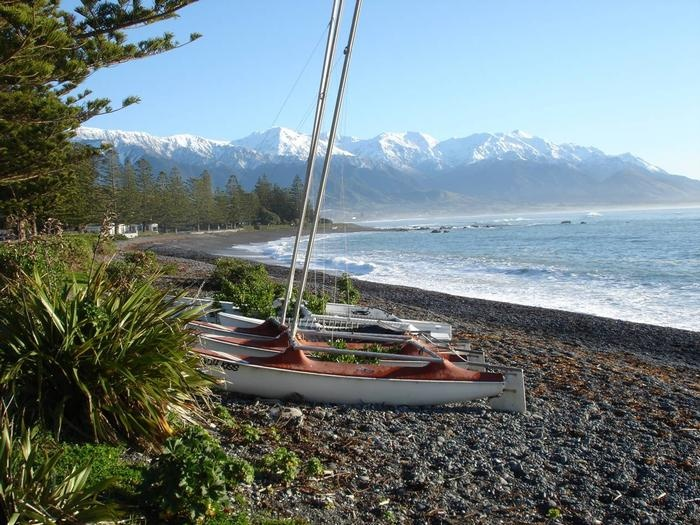 A view of the Seaward Kaikoura Ranges from the Esplanade