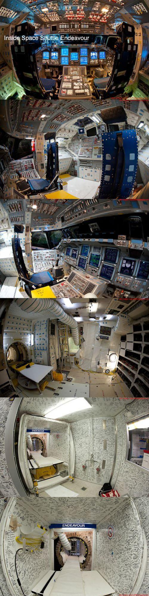 Inside Space Shuttle Endeavour