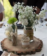 Rustic Mason Jar Wedding Centerpieces