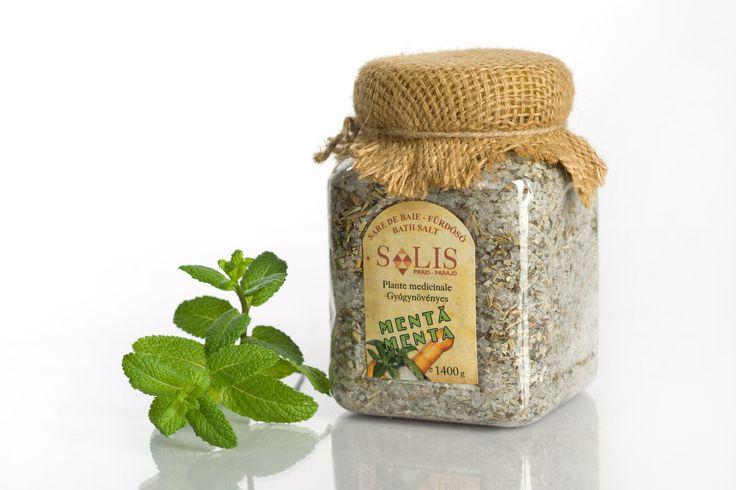 Sare de baie cu plante medicinale MENTĂ 1000g