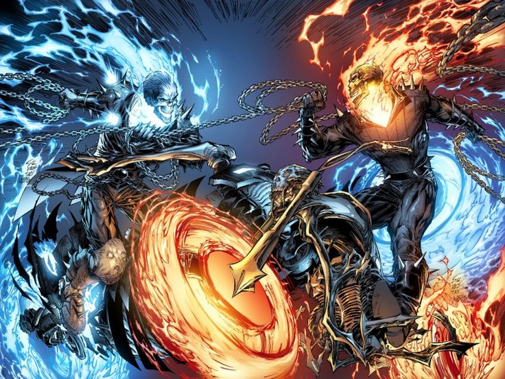 Blue Ghost Rider Vs Ghost Rider