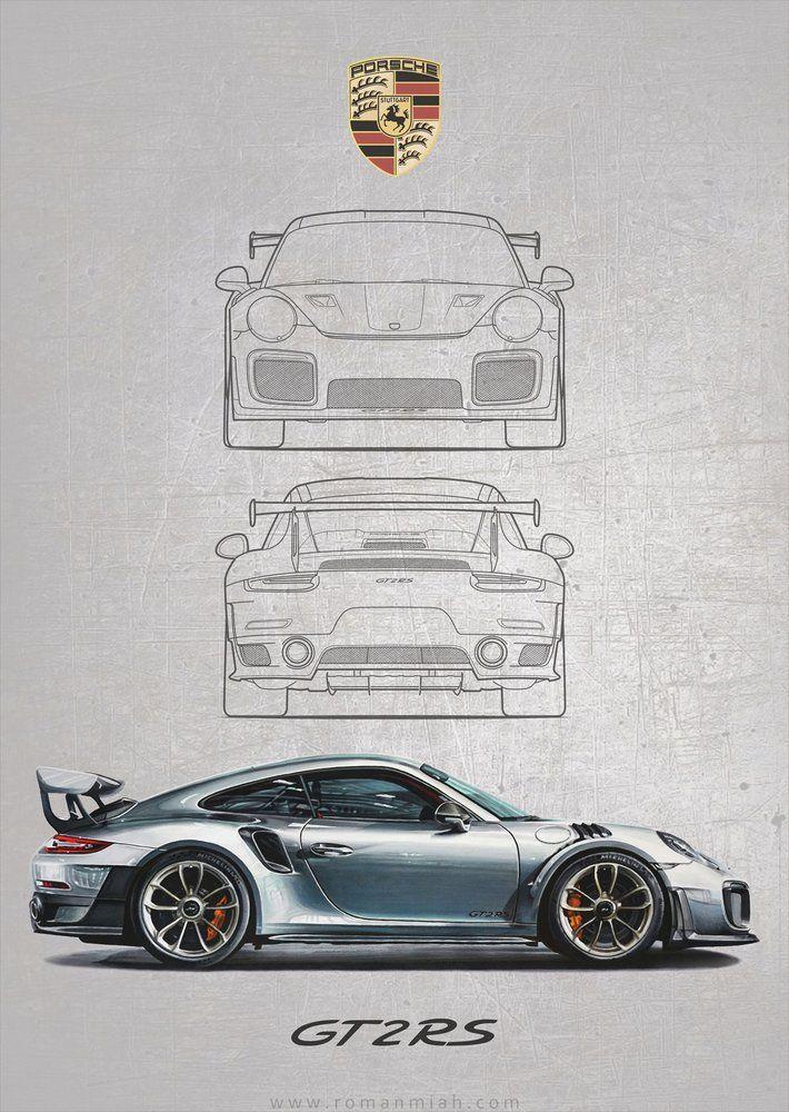 Porsche 911 GT2 RS Poster Print