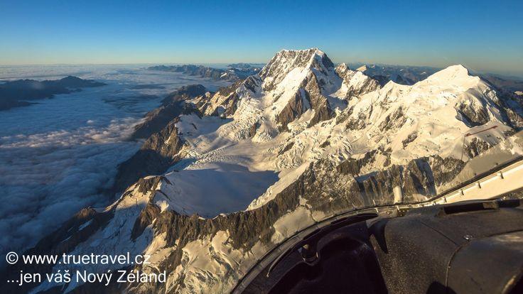 Let vrtulníkem nad Jižní Alpy a Mt Cook, Nový Zéland #NewZealand #cestovani #travel