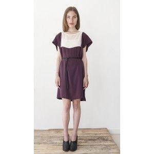 Flat Pattern Dress // Paars + Nude