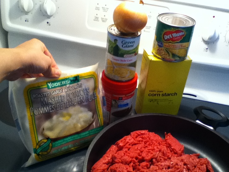 Shepherds pie ingredients