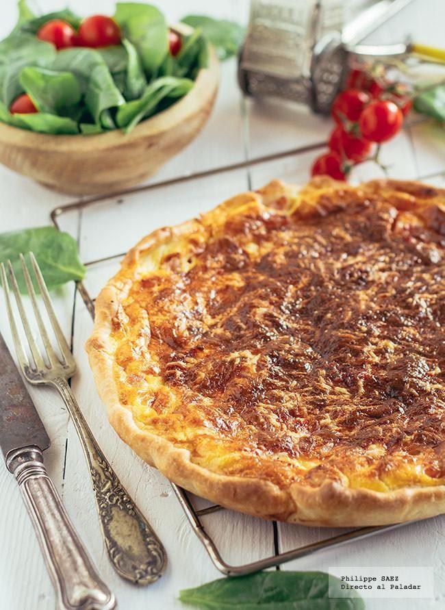 Receta de la Quiche Lorraine. Receta con fotografía del paso a paso y recomendaciones de degustación. recetas de quches y tartas