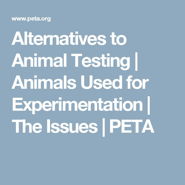 Alternatives to Animal Testing | Animals Used for Experimentation | The Issues | PETA