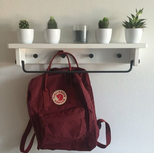 fjallraven kanken, hipster, and red image