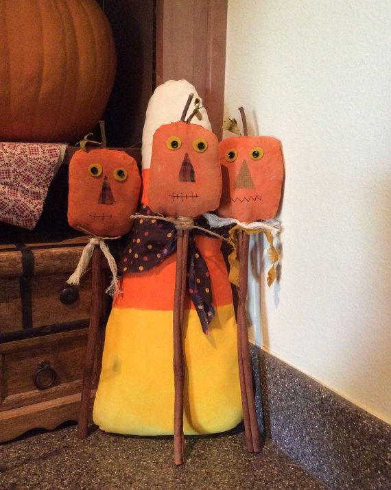 Primitive pumpkin pokes/crock pokes by CraftsbyNa on Etsy