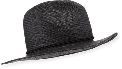 Yestadt Millinery Classic Packable Straw Fedora Hat