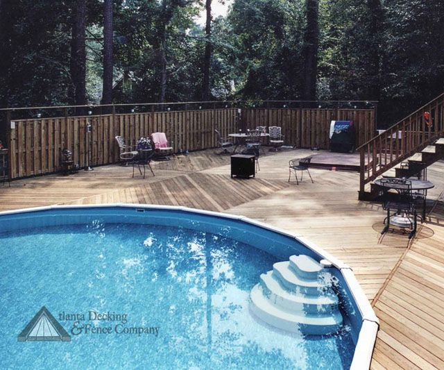 Above Ground Pool Decks With Privacy Warmth And Beauty