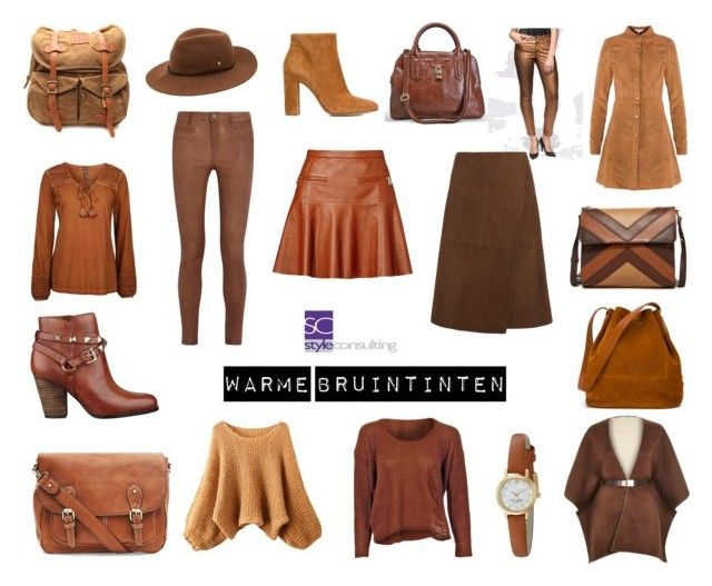 """Warme bruintinten. Warm brown."" by roorda on Polyvore featuring mode, Gianvito Rossi, Avenue, VIPARO, Kate Spade, Helen Kaminski, GUESS, Isabella Fiore, Sophie Hulme en Joie"
