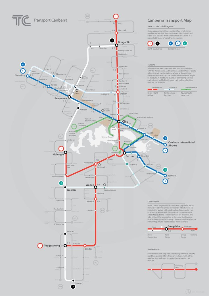 Submission - Fantasy Map: Future Rapid Transit of Canberra, Australia by John Roberts Submitted by John, who says: A fantasy map imagining Canberra's (newly under construction) light rail system and a fantasy rapid and feeder bus network at some...