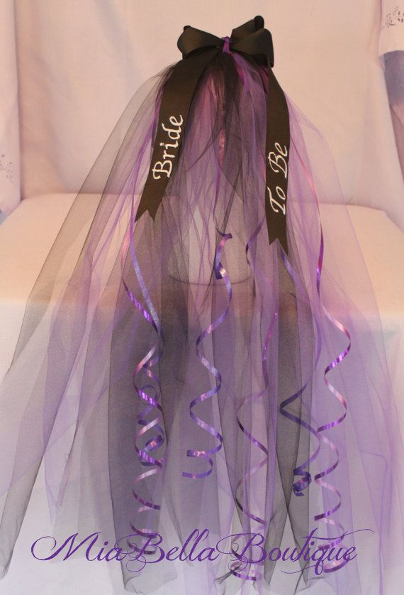 Bachelorette Veil Tiara Bridal Shower Bride To Be Party Future Mrs Soon Custom Colors Embroidered