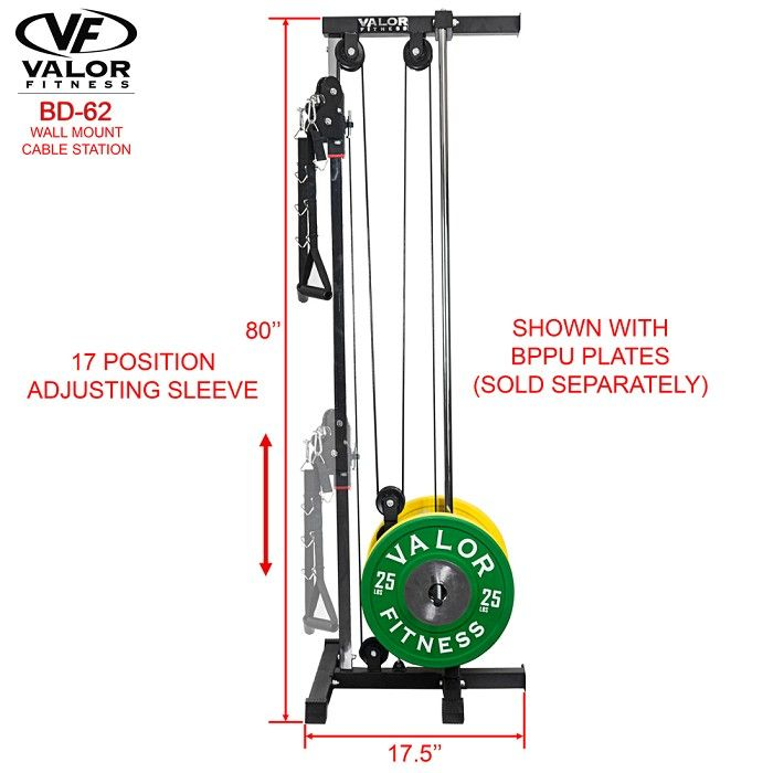 Bd 62 Wall Mount Cable Station 844192006453 At Home Gym Home Made Gym Diy Home Gym