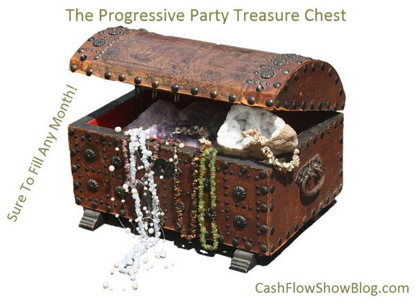 A progressive party treasure chest is fun and guaranteed to fill your calendar in those slow and hard to fill months. Learn how to fill any month!