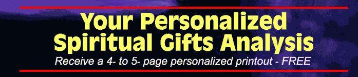FREE Spiritual Gifts Analysis
