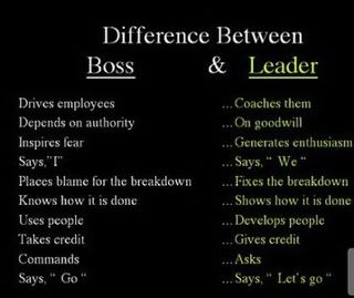 Boss Vs. Leader: Worth Reading, Quotes Funny, Book Worth, Worth Shared, Boss, Leader Quotes