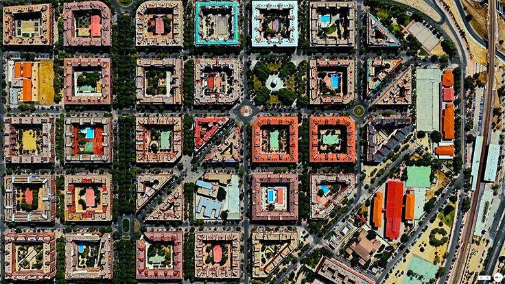 Puente de Vallecas, Madrid, Spain | 30 Breathtaking Satellite Photos That Will Change How You See Our World | www.boredpanda.com/