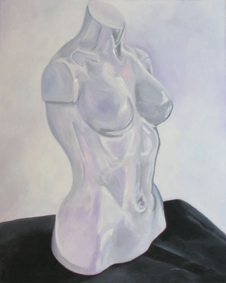 """""""Naked Torso"""" by Helen Finney.This original painting of a mannequin is full of colour and comes from Helen's collection on FineArtSeen. Click to view more art at great prices from the Home Of Original Art. << Pin For Later >>"""