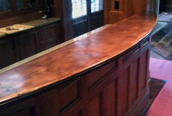 Copper bar top domesticity pinterest for How to make a copper bar top