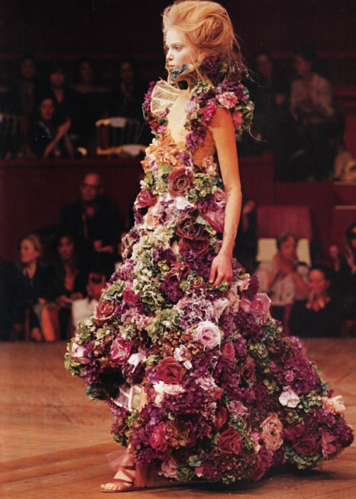 I think this high fashion dress was inspired by Adam & Eve. Maybe Eve wore gowns like this in the Garden of Eden....lol