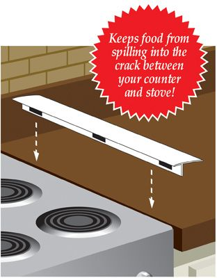 Stovetop No Spill Strip Guard: Guard 2 99, Stove, Finals, Houses, Spill Strips, Crumb, Counter, Collection, Spill Food