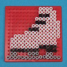 Ice skate perler fuse bead pattern