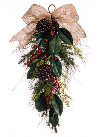 Features:  -Material: Poly silk.  -Machine made.  -Product may ship compressed - Primping of branches or leaves may be required to match the image shown.  Product Type: -Swag.  Holiday Theme: -Yes.  S