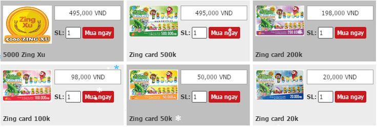 Mua thẻ Zing xu đơn giản bằng Visa Xem thêm mua thẻ Viettel tại http://muathecao24h.com/the-viettel/mua-the-viettel-online.html