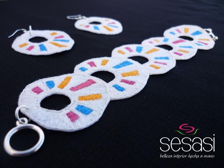 Handmade bracelet + earings <3