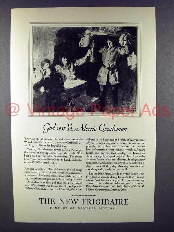 1928 Frigidaire Refrigerator Ad - Merrie Gentlemen