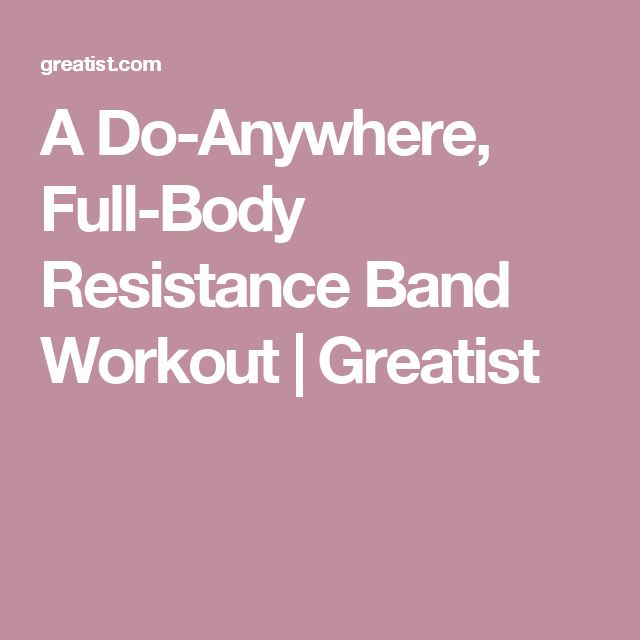 A Do-Anywhere, Full-Body Resistance Band Workout | Greatist