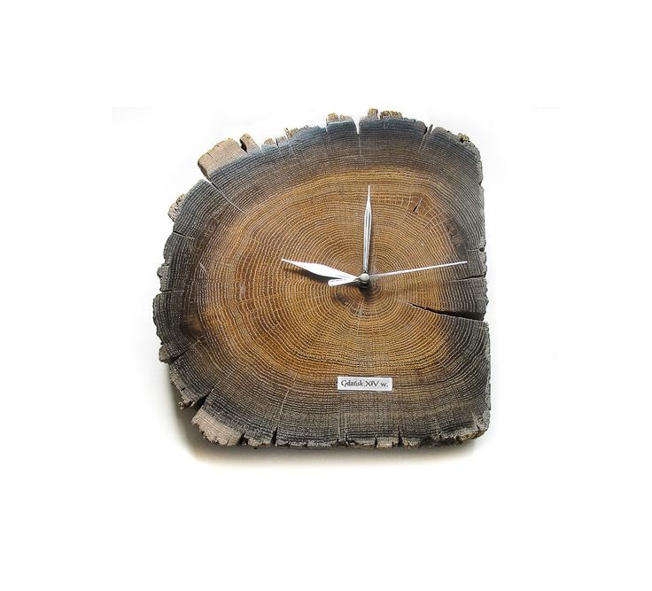 The piece of wood which the clock was made of still remembers the subtle smell of wind from a wild 14th century foroest. Cut and crushed with a layer of the ground, the wood supported the foundations of the Old City of Gdansk for over 700 years. It was found during archaeological work in the 21st century. Vintage black oak. Dried and brushed. Protected with wax. Exclusive ecological clock made of this material not only measures time... It speaks deep from its heart...