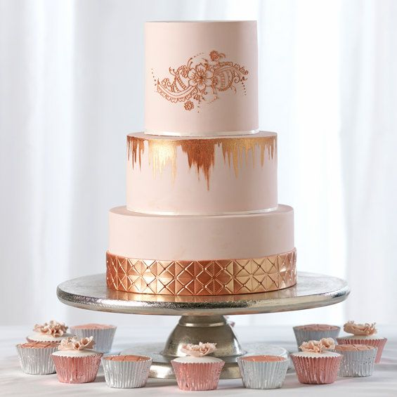Gold Wedding Cake Decorations: 14 Best Rose Gold Wedding Cakes Images On Pinterest