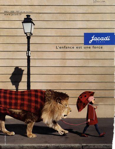 jacadi publicité lion | La Meute aime... cette célébration de la force des petites filles.