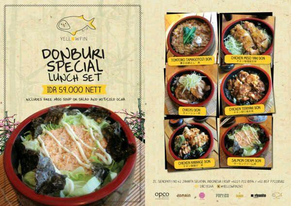 Donburi special lunch set https://www.facebook.com/YellowfinJKT