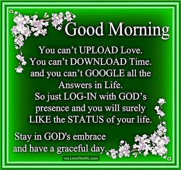 Christian Positive Morning Quotes: Good Morning Stay In Gods Embraxe